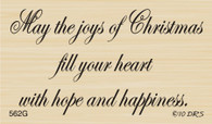 Joy of Christmas Greeting - 562G