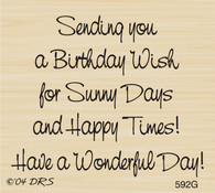 Sunny Days Birthday Greeting - 592G