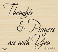 Thoughts and Prayers With You Greeting - 596G