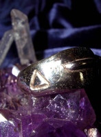 Elhaz Rune Pyramid & Infinity Symbol Ring! Justice, Victory & Success!