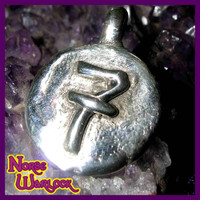 Lucky #7!  Silver Good Luck Money Magnet & Wishing Pendant!