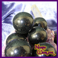 3 Obsidian Gemstone Spheres Crystal Ball Orb Healing & Psychic Powers!