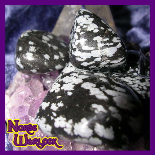 3 Snowflake Obsidian Gemstones for Serenity, Purity & Protection!