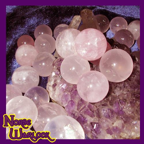 3 Healing Rose Quartz Spheres Crystal Balls! Fairy Offerings & Gifts!