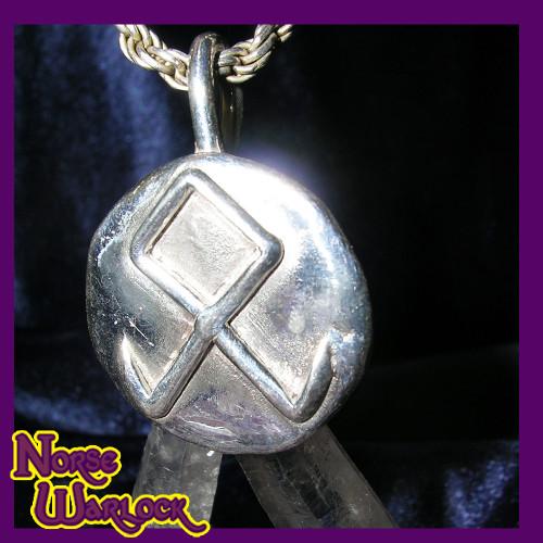 Othala, Odin's Rune! Spiritual Inheritance! Pendant of Prosperity! Viking