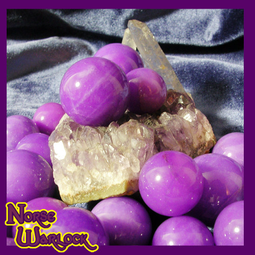 3 Purple Jade Crystal Balls Charged with Royal Wealth & Power Energy!