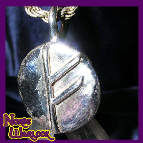 Fehu Rune Pendant! Abundance & Financial Strength! Success Happiness!