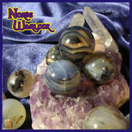 3 Ghost Agate Sphere Crystal Balls for Balance Harmony Acceptance Security! Paranormal Metaphysical