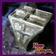 Magick Illuminati Triple Cross Ring Ultimate Wealth Power Protection & Respect!