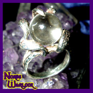 Priestess of Light Helping Hand Psychic Crystal Ball Ring! Love & Money Magick! 685a