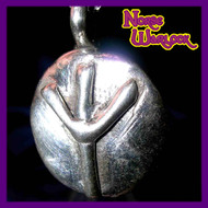 Elhaz Rune Pendant! Victory, Justice & Success are Yours! Algiz Viking Metaphysical