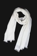 Woven Cashmere Scarf Supreme White