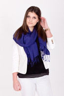 You will love every minute you spend wrapped up in this luxurious blue Pashmina as it falls loosely.
