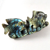 Carved Labradorite Fish Scene - GLAB005