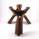 Wooden Tripod Sphere Stand, 10""