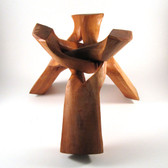 Wooden Tripod Sphere Stand, 12""