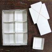 "White Mineral Fold-up Boxes, size 6's (5"" x 4.75"") - 100 pieces"