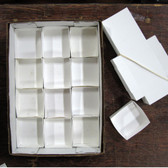 "White Mineral Fold-up Boxes, size 12's (3.5"" x 3.25"") - 100 pieces"
