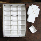 "White Mineral Fold-up Boxes, size 18's (3.25"" x 2.25"") - 100 pieces"