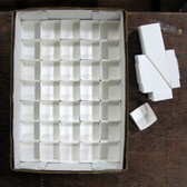 "White Mineral Fold-up Boxes, size 35's (2"" x 2"") - 100 pieces"