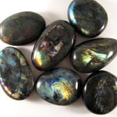 ECONOMY Spectralite Labradorite Pebble, 1 (one) piece, Palm Stone, Medium STK006