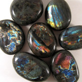 ECONOMY Spectralite Labradorite Pebble, 1 (one) piece, Palm Stone, Large STK007