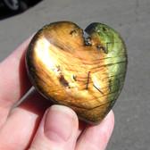 Madagascar Spectralite Labradorite Heart - MSpec104
