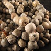 Stegodon Fossil Bone Beads 1 - 24 inch Strand - ETMB001