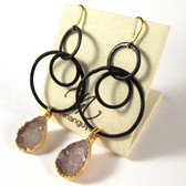 """Mercury"" White Druzy Earrings by Nina Nguyen Designs"