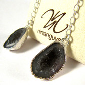 """Bashful"" Geode Earrings by Nina Nguyen Designs"