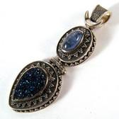 Kyanite & Blue Druze Pendant