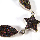 Star Druze Necklace, Multi Color - Regularly $262.00
