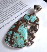 Turquoise & Topaz Pendant