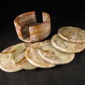 Banded Onyx Coasters, Set of 6 - GCOA013