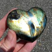 Madagascar Spectralite Labradorite Heart - MSPEC094