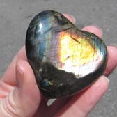 Madagascar Spectralite Labradorite Heart - MSPEC084