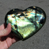 Madagascar Spectralite Labradorite Heart - MSPEC083