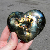 Madagascar Spectralite Labradorite Heart - MSPEC079 - Regularly $48.00