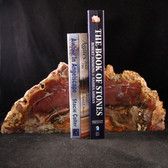 Petrified Wood Bookends - GBKND006