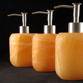 Oval Orange Aragonite Soap Dispenser, 1 piece
