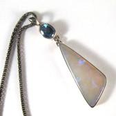 Australian Opal & Apatite Pendant