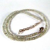 Green Amethyst Faceted Bead Necklace