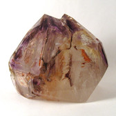 Elestial Quartz with Interior Skeletal Formations and Amethyst Phantoms