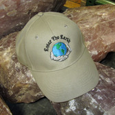 Enter the Earth Embroidered Hat, Khaki, 1 size fits all, unisex - EHAT001