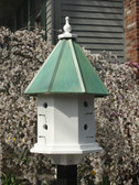 Haven birdhouse-patina roof