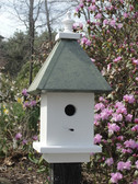 manor birdhouse-patina roof