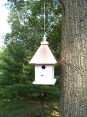 Hanging Manor birdhouse-copper roof