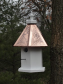 Hanging Loft birdhouse-copper roof