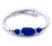 wrap bracelet-single loop-cobalt