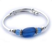 wrap bracelet-single loop-sapphire